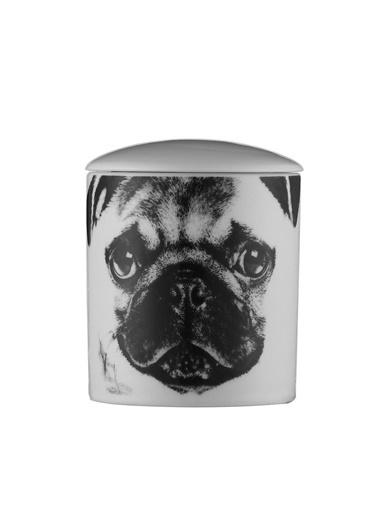 Kütahya Porselen Bardak Mum Köpek Desen Renkli